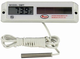 Digital Refrigerator/Freezer Thermometers are solar powered.