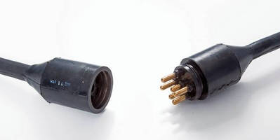 Connectors are water- and dust-tight when caped or mated.