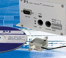 Controller operates piezo stepping linear motors.