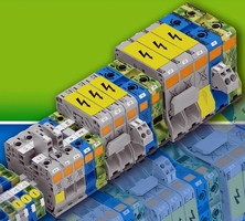 Spring-Type Terminal Blocks suit 2/0 and 4/0 conductors.