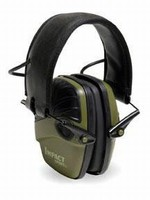 Earmuffs amplify ambient sounds up to 82 dBA.