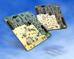 Transceivers feature integrated digital microcontrollers.