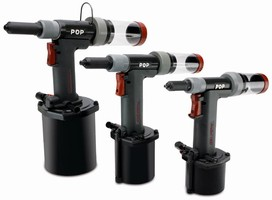 Pneumatic Rivetting Tool combines ergonomics and power.