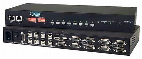 USB KVM Switch offers optional audio or RS232 control.