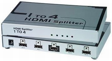 Video Splitter distributes HDMI images to multiple monitors.