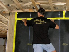 Soundproofing Material helps optimize R value.