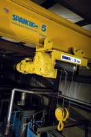 Wire Rope Hoist is offered in 3 or 5 ton capacities.