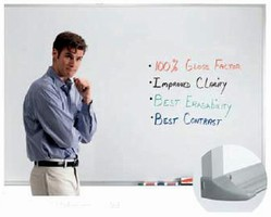Dry Erase Markerboards have seamless writing surface.