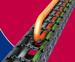 Cable Carrier combines flexibility and sturdiness.