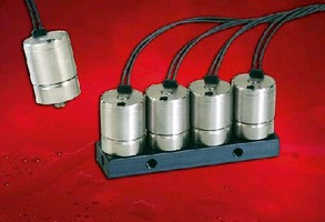 Electronic Valve has spider design with wire leads out the top..