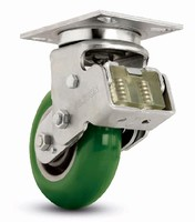 Casters feature spring loaded design.