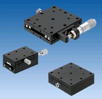 XYZ-Axis Stages feature precise linear ball guide system.
