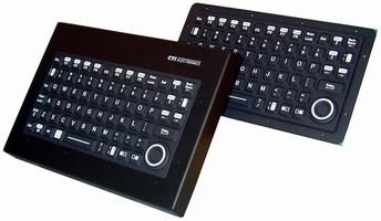 Miniature Industrial Keyboard is sealed to NEMA 4.