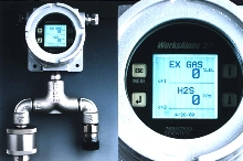 Fixed Gas Sensor features 2 gas monitoring points.