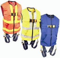 Safety Harness combines high visibility and fall protection.