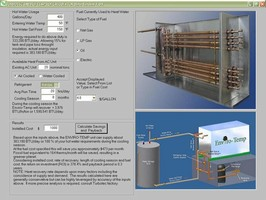 Heat Recovery System is offered with savings estimator.