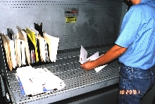 Mail Inspection Workstation protects mail sorters.