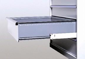 Drawer Cabinets utilize quiet suspension system.
