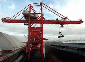 Unloader meets performance demands of bulk terminals.