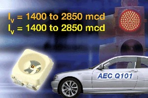 SMD LEDs feature thermal resistance down to 290 K/W.