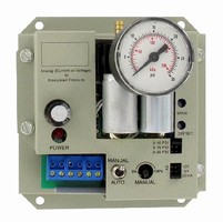 Electro-Pneumatic Transducers regulate branch pressure.