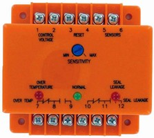 Relay detects leaks and over-temperature conditions.