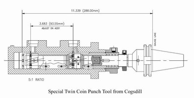 Special Twin Coin Punch Tool Achieves Chamfer Diameter and Location Specs, Greatly Reduces Costs