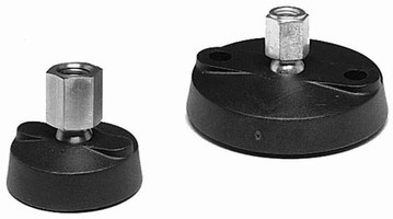 Nylon Base Leveling Mounts swivel 15° and will not separate.