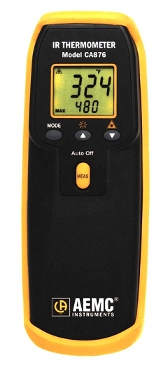 Infrared Thermometers have laser guide for accurate sighting.