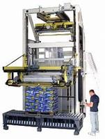 Pallet Covering Machine wraps 120 pallets/hour.