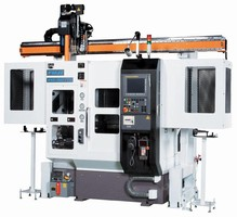 Twin Turret Automated Shaft Lathes minimize cycle time.
