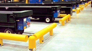 Minimal Maintenance Guardrail protects equipment and workers.