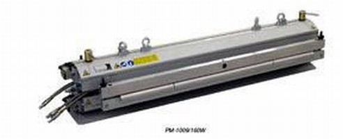 Water-Cooled Presses use aluminum beams for light weight.