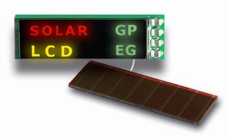 LCD Modules operate on solar power.
