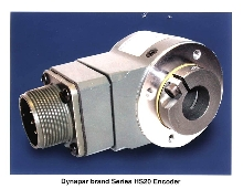 Encoder mounts on machine or motor shaft.