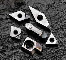 Insert Grade suits machining of non-ferrous materials.