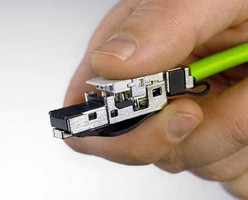 RJ45 Ethernet Connectors offer tool-free installation.