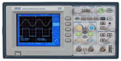 Digital Storage Oscilloscope features color display.
