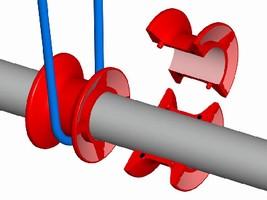 Split Spools suit line-shaft conveyors.