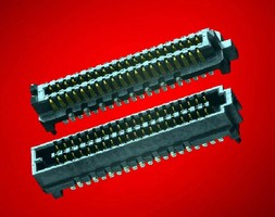 High-Speed Mezzanine Connectors feature 4-row architecture.