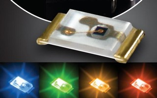 Surface-Mount LEDs have thin, low-power design.