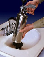 Water Ram Clears Clogged Drains With Green Power