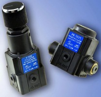 Precision Regulators feature metric ports.