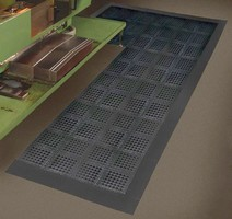 Modular Anti-Fatigue Mat is made from recycled material.