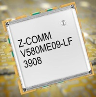 UHF-Band VCO features linear tuning and low phase noise.