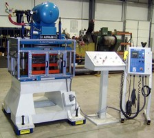 Pneumatic Press offers capability for progressive die work.