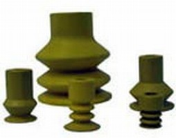 Bellows Suction Cups handle temperatures up to 160°C.