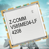 Wideband VCO features low phase noise.