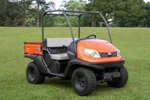 Utility Vehicle runs on 2-cylinder gas engine.