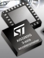 Three-Axis MEMS Accelerometer is qualified to AEC-Q100.